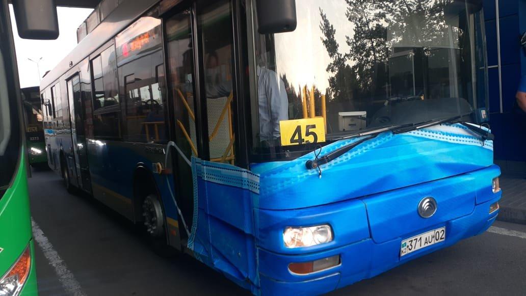 В алматинском автопарке рассказали, как на одном из маршрутов появился автобус в маске, фото-3