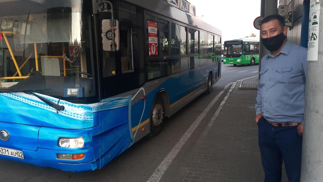 В алматинском автопарке рассказали, как на одном из маршрутов появился автобус в маске, фото-2
