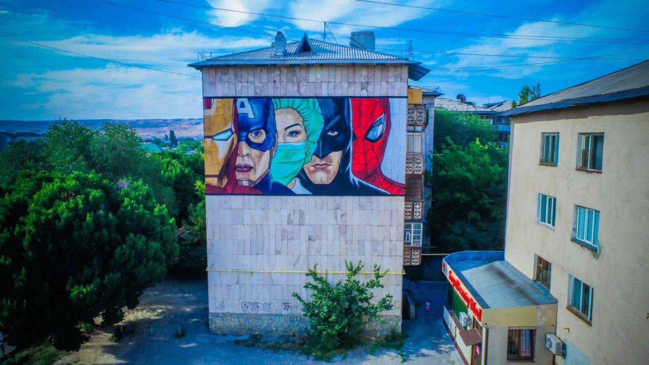 Пять муралов за месяц создали в Алматинской области, фото-4