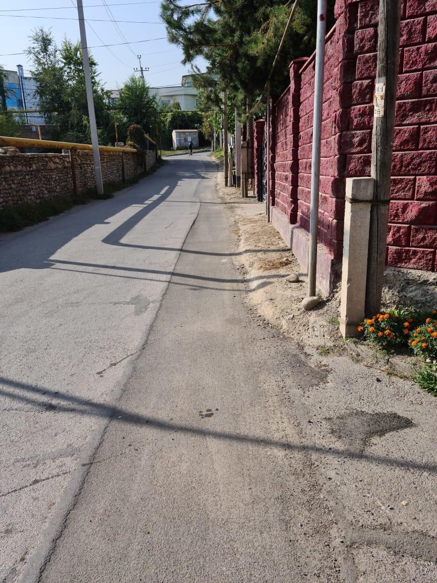 Положенный жителем частного дома в Баганашыле асфальт провалился под машиной в Алматы, фото-1