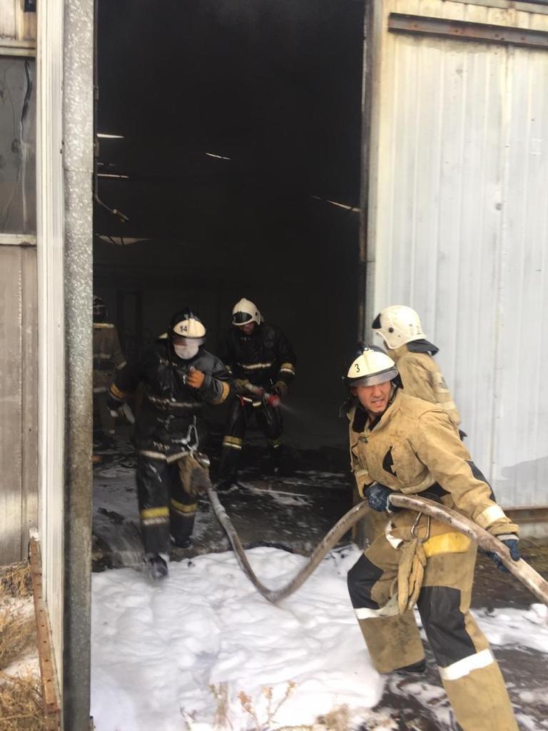В районе Алматинского ипподрома горел склад, фото-1