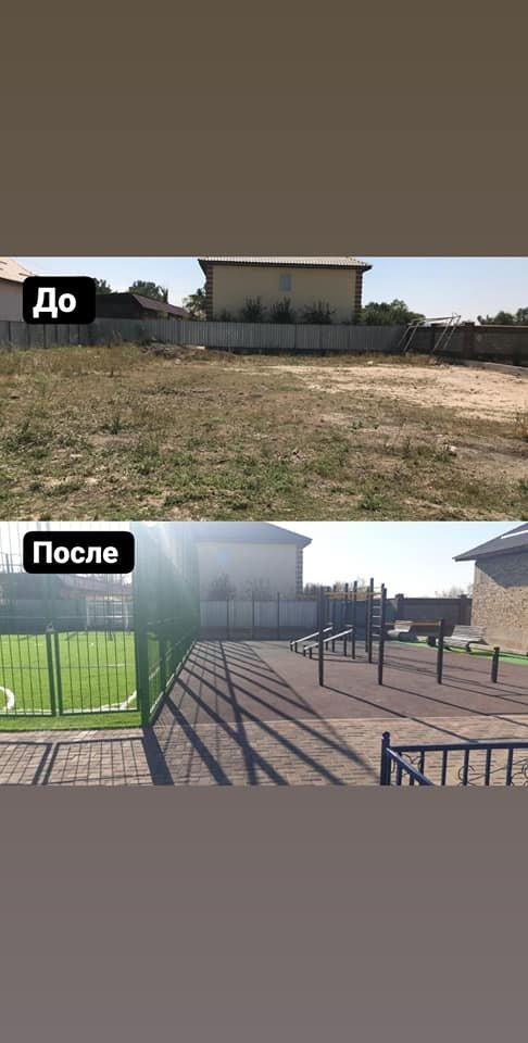 В микрорайоне Нуршашкан в Алматы отремонтировали футбольное поле, фото-1