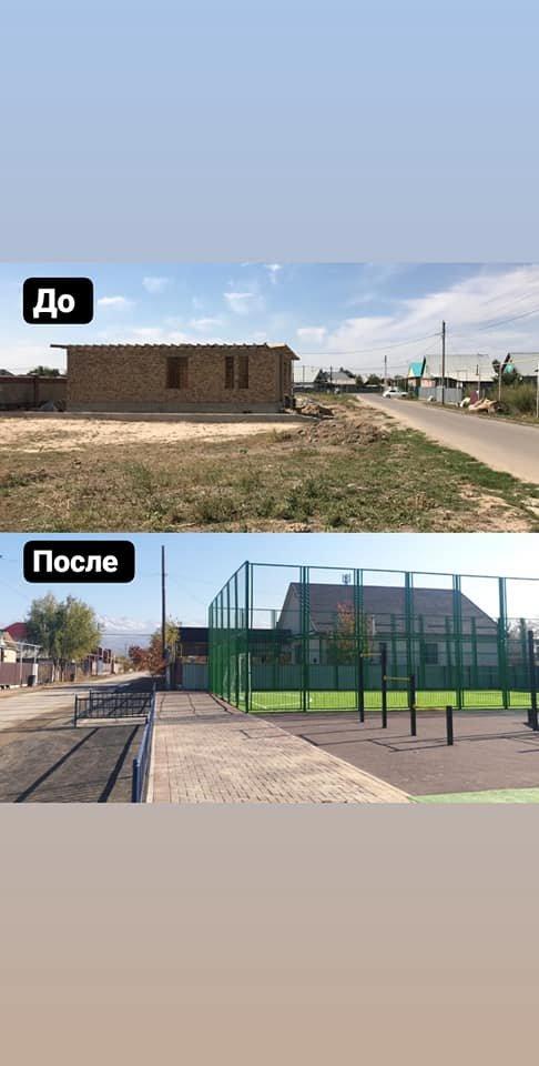 В микрорайоне Нуршашкан в Алматы отремонтировали футбольное поле, фото-2