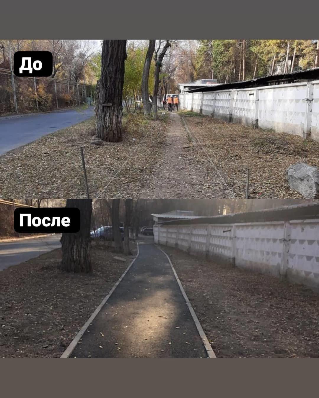 Пешеходный тротуар строят по улице Айша-Биби в Алматы, фото-2