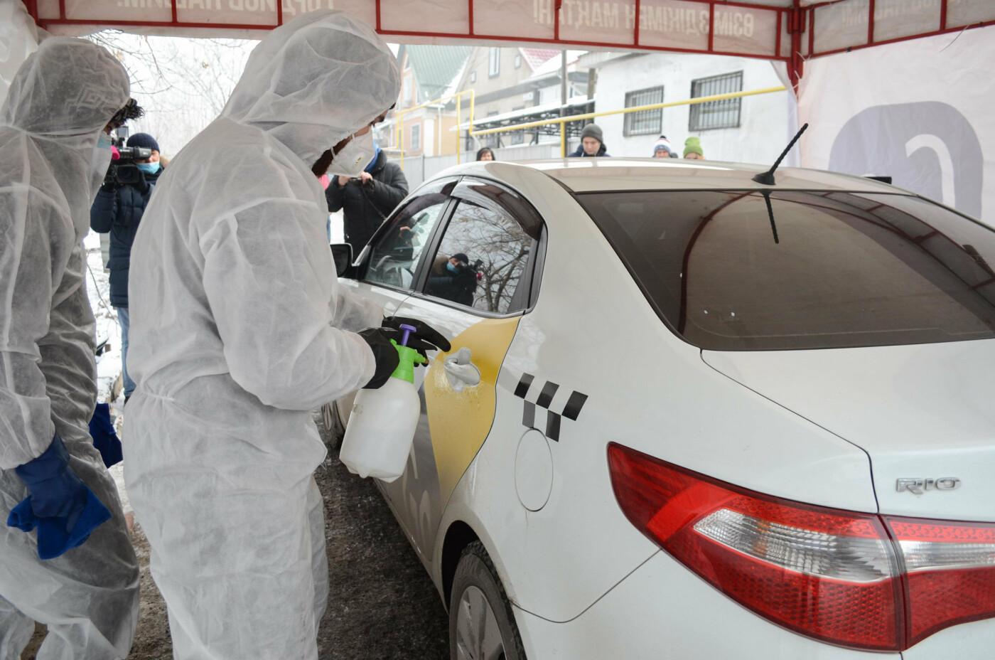 Как дезинфицируют машины, выполняющие заказы сервиса Яндекс.Такси в Алматы, фото-8
