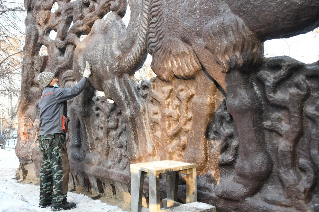 Советское панно «Верблюды» восстановят в сквере «Дружбы» в Алматы , фото-3