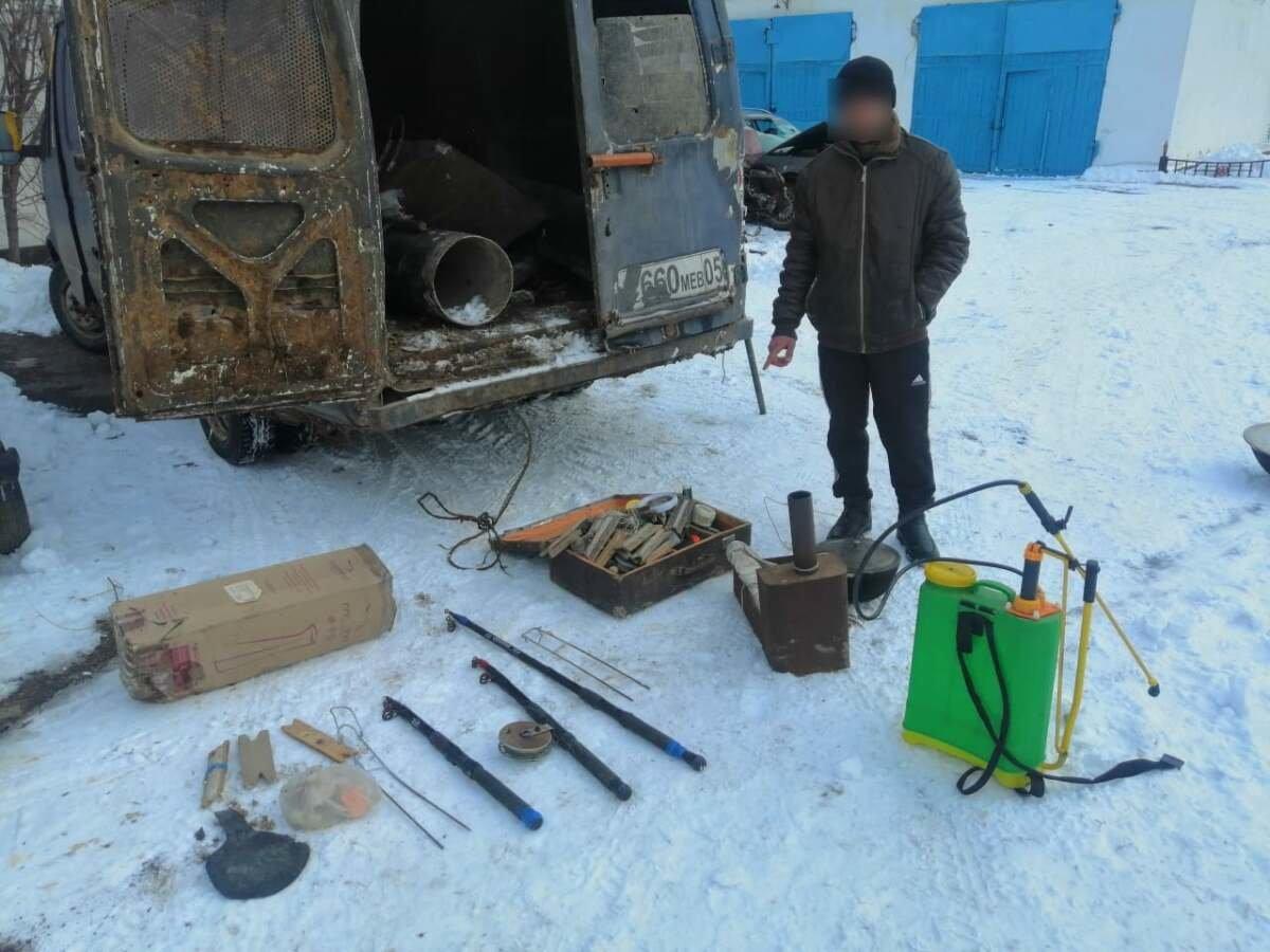 Микроавтобус с украденными вещами
