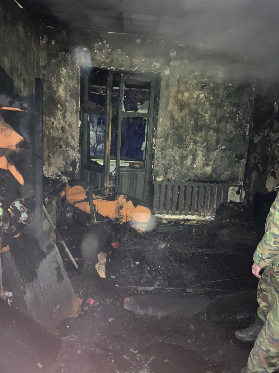 Пожар произошёл вечером 16 февраля в Алмалинском районе