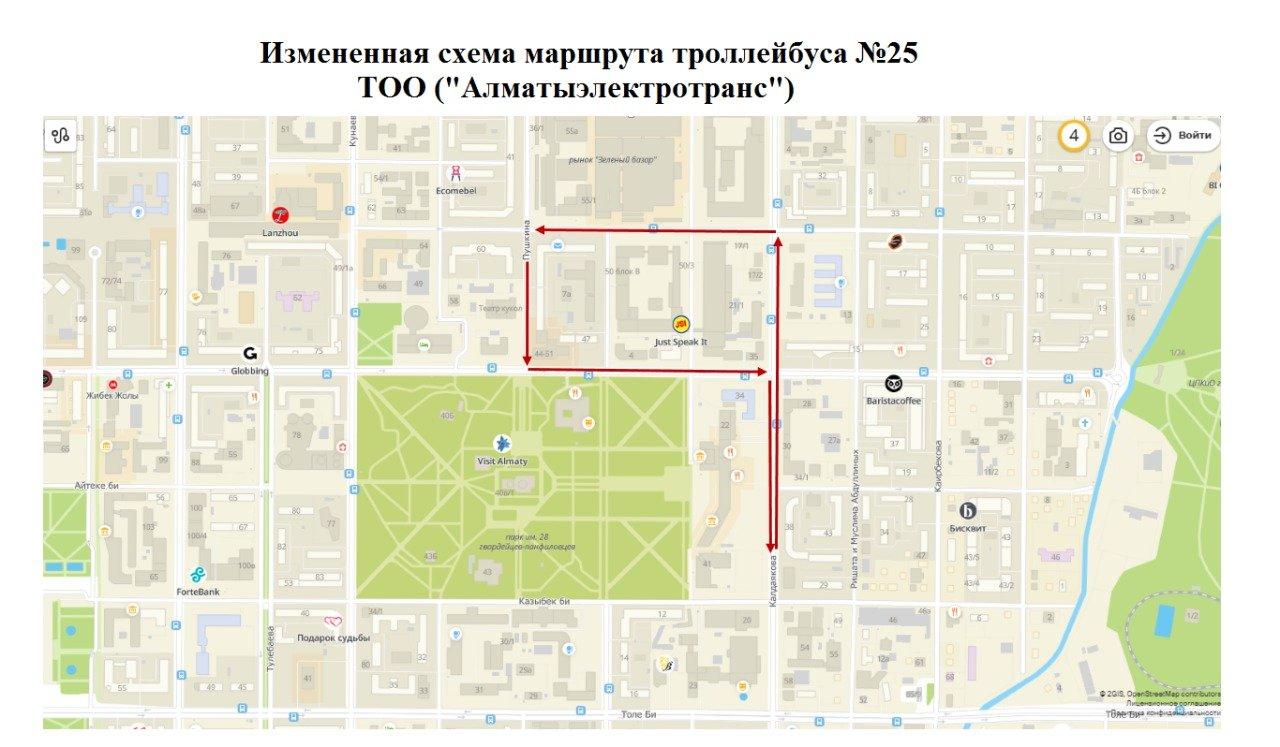 Схемы движения на 28 февраля