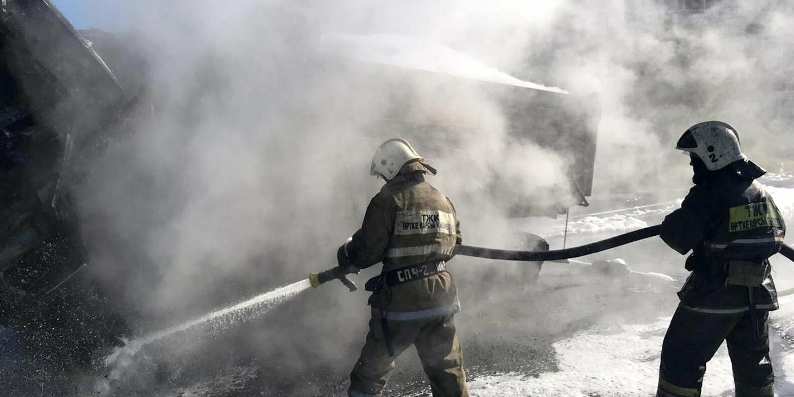 Пожарные ликвидировали огонь в строящемся ЖК на Северном кольце